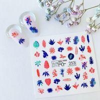 Слайдер дизайн SLIDER RF design nails (74мм х 71мм) -253- СЛАЙДЕР РФ