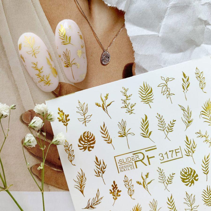 Слайдер дизайн SLIDER RF design nails (74мм х 71мм) -317F фольгированный- СЛАЙДЕР РФ