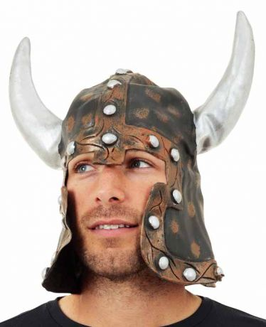 Шлем Варвара с рогами (латекс)