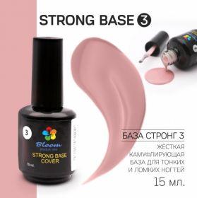 База жесткая Strong светло-розовая №3 Bloom 15 мл