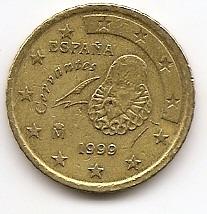 50 евроцентов Испания 1999 регулярная из обращения