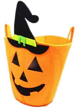 Ведерко Хэллоуин фетр (20 см)