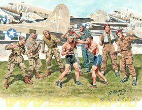 Фигуры Дружественный матч по боксу. Британские и американские десантники, 2МВ