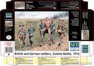 Фигуры Британские и немецкие солдаты, Битва на Сомме, 1916