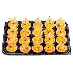 Тарталетки с маринованными персиками, карамболой и сливочным сыром(10 шт)