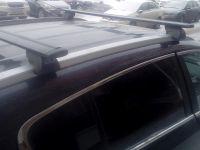 Багажник на интегрированные рейлинги Kia Sportage 4 (2016-...), Евродеталь, черные крыловидные дуги