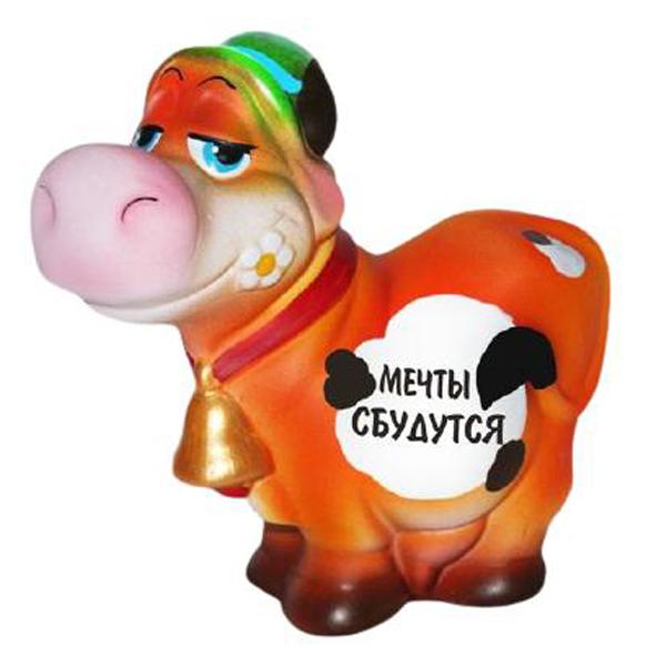 Копилка Корова в шляпе «Мечты сбудутся»
