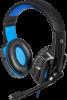 НОВИНКА. Игровая гарнитура Warhead G-390 LED черный+синий, кабель 1,8 м