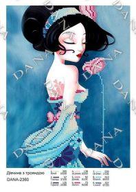 Dana DANA-2360. Девушка с Розой схема для вышивки бисером купить оптом в магазине Золотая Игла