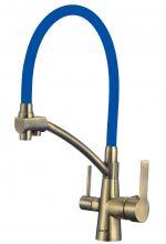 Смеситель для мойки бронзовый с гибким изливом под фильтр Savol S-L1805C-05