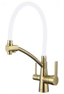 Смеситель для кухни с гибким изливом под фильтр Savol S-L1805B-02 золото