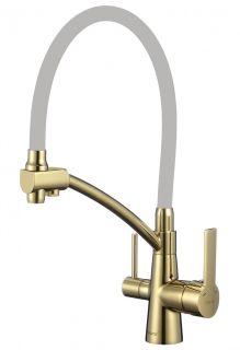 Смеситель для кухни с гибким изливом под фильтр Savol S-L1805B-04 золото