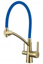Смеситель для кухни с гибким изливом под фильтр Savol S-L1805B-05 золото