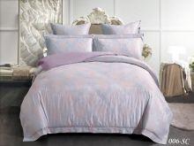 Комплект постельного белья Лен Soft cotton жаккард   семейный  Арт.41/006-SC