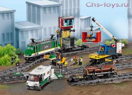 Конструктор радиоуправляемый LION KING City Товарный поезд 180039 (Аналог LEGO City Trains 60198) 1373 дет