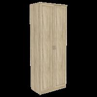 Шкаф для белья со штангой и полками арт. 101 (дуб сонома)
