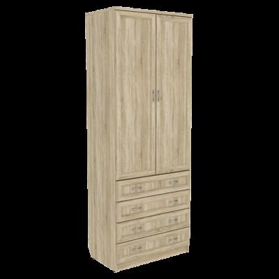 Шкаф для белья со штангой и ящиками арт. 103 (дуб сонома)