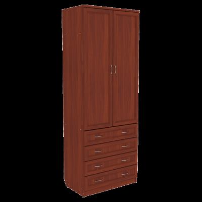 Шкаф для белья со штангой и ящиками арт. 103 (итальянский орех)