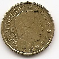 50 евроцентов Люксембург 2006 регулярная из обращения