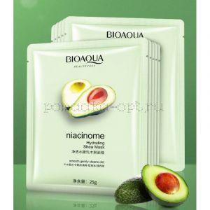 Оригинал Очищающая маска с маслом ши и авокадо Bioaqua Niacinome Hydrating Shea Mask