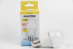 Лампа светоид.SMART BUY А60 11W 3000К E27 (т.свет)