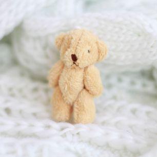 Мини мишка для куклы, бежевый, 6 см