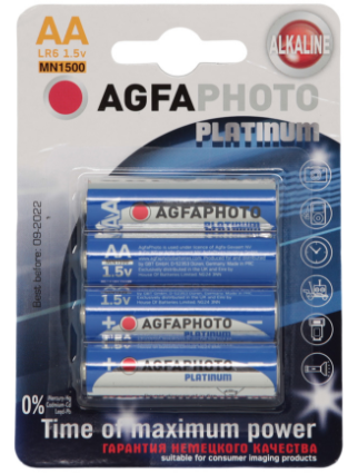 Батарейки АА комплект 4 шт