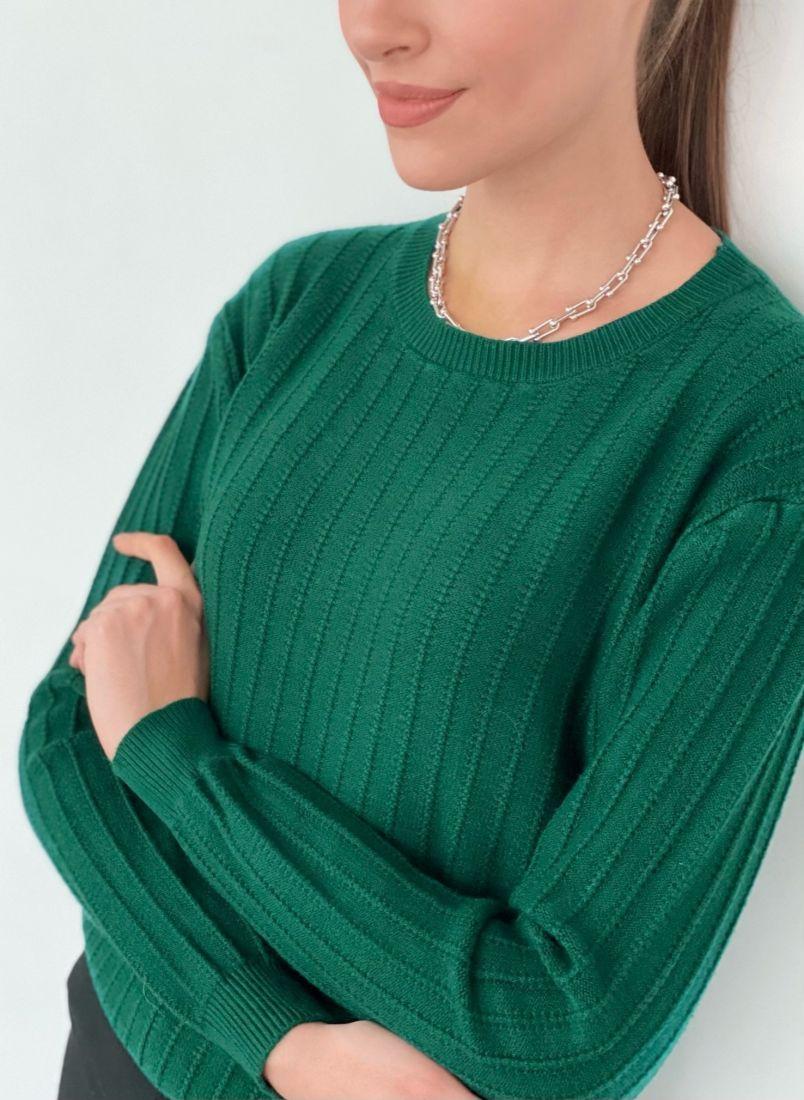 s3323 Джемпер изумрудно-зелёный