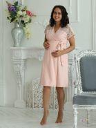 Халат для беременных и кормящих 1-НМК 08402 персиковый