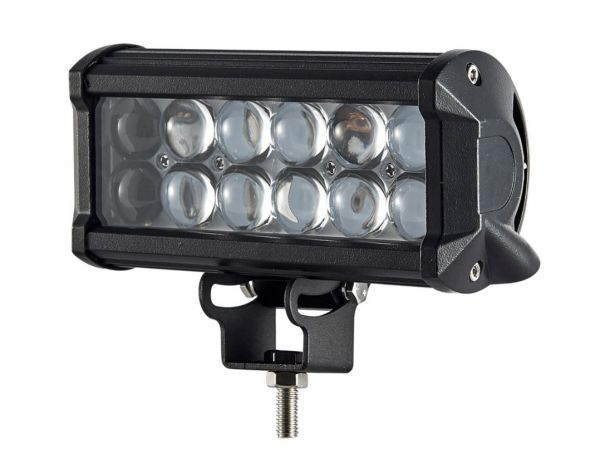 Двухрядная светодиодная LED фара с 4D линзой - 36W CREE дальний свет (нижний крепеж)