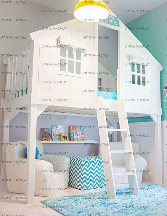 Кровать-чердак Домик Депо Roof №2
