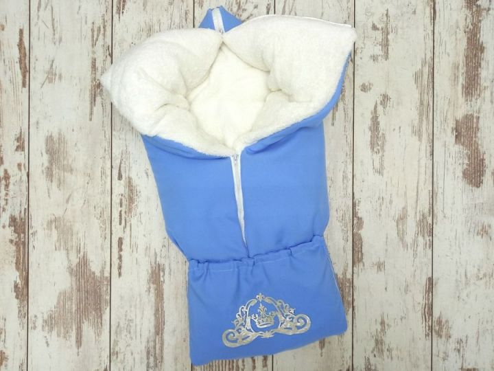 Одеяло-трансформер на молнии, мемори-мех, 85х85, цвет голубой FC-OD090(b)(m)-ME