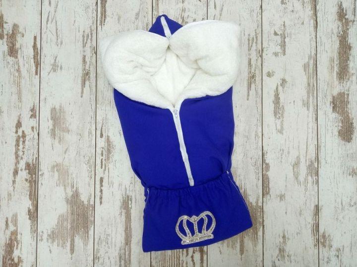 МАМИН МАЛЫШ - Одеяло-трансформер цвет синий корона FC-OD090(b)(m)-ME