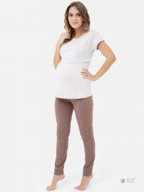 Блузка для беременных и кормящих 1-НМ 53702 бежевый