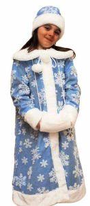 Костюм Снегурочки с муфтой детский