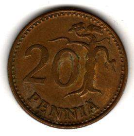 Финляндия 20 пенни 1981 К