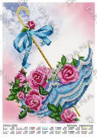 Dana DANA-2290. Цветочный Зонт схема для вышивки бисером купить оптом в магазине Золотая Игла