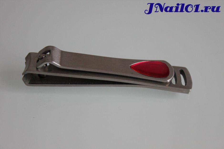 Кусачки-книпсеры для ногтей с розовой вставкой