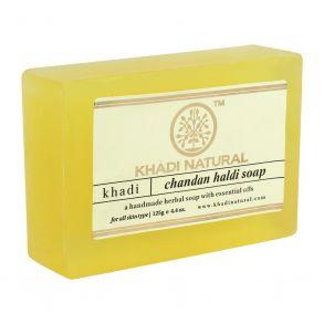 Khadi Мыло ручной работы - Сандал и Куркума,100 гр.