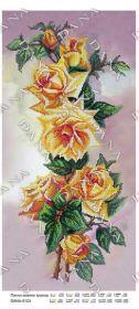 Dana DANA-5123. Панно Желтых Роз схема для вышивки бисером купить оптом в магазине Золотая Игла