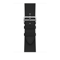 Ремешок Apple Watch Hermès Noir Leather Single tour Deployment Buckle из кожи (для корпуса 44 мм)
