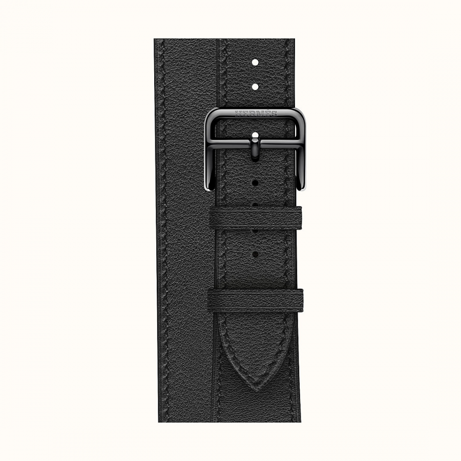 Ремешок Apple Watch Hermès Noir Leather Double Tour из кожи (для корпуса 44 мм)