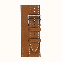 Ремешок Apple Watch Hermès Fauve Barenia Leather Double Tour из кожи (для корпуса 44 мм)