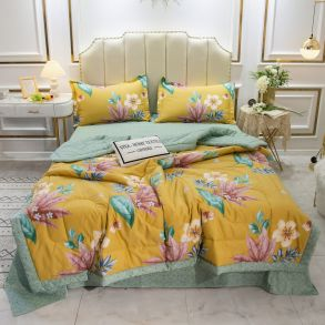 Комплект постельного белья Сатин с Одеялом OB015