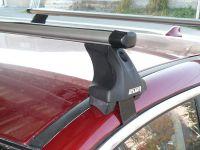 Багажник на крышу Daewoo Gentra, Атлант, аэродинамические дуги Эконом, опора Е