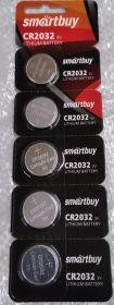 батарейка SMARTBUY CR2032 BL5, 5/100