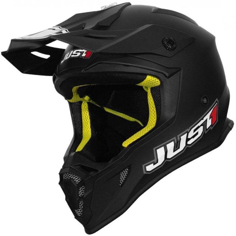 Just1 J38 Solid Black Matt шлем внедорожный