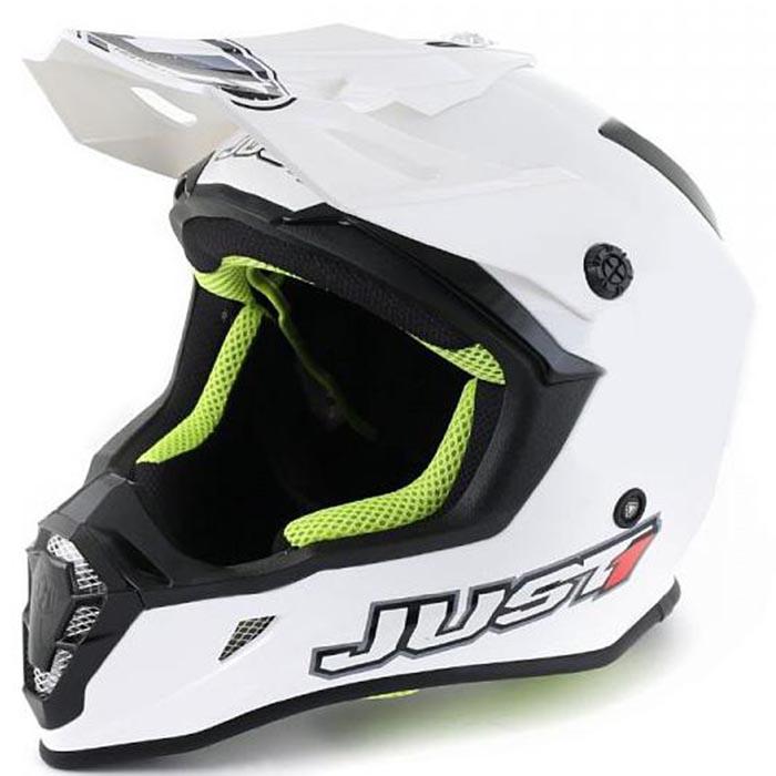Just1 J38 Solid White шлем внедорожный