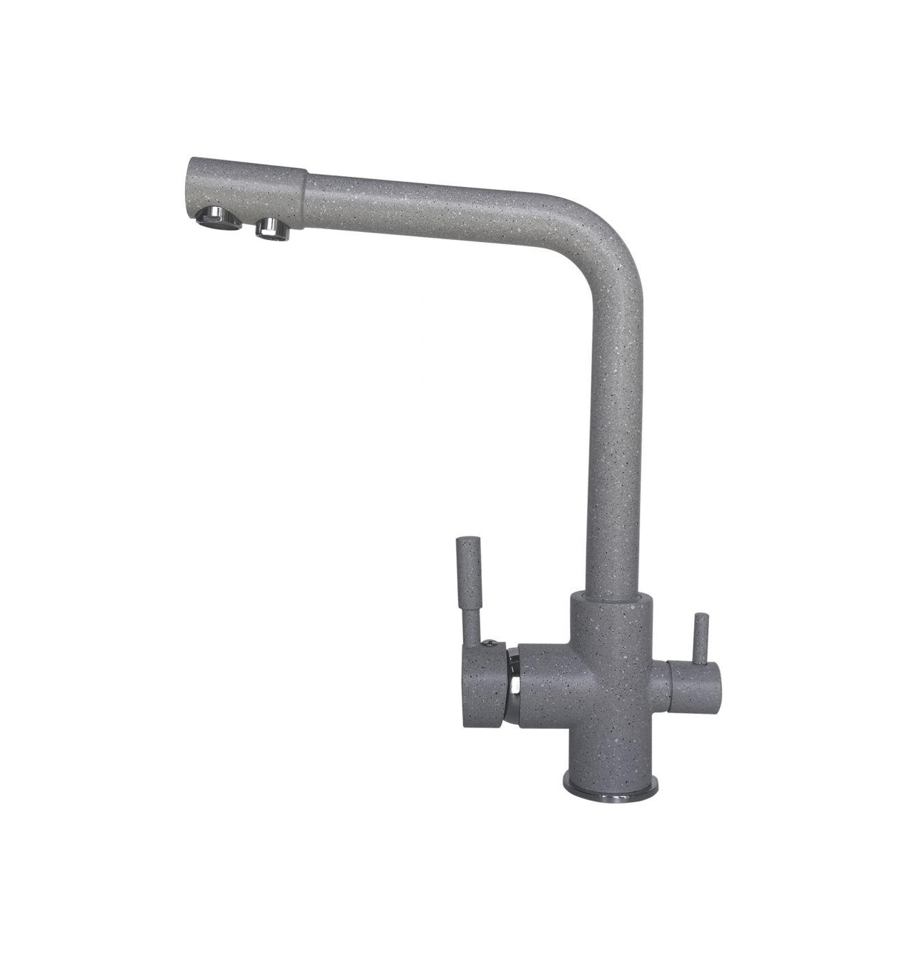 Смеситель для кухни (мойки) LEX Biferno Space Gray однорычажный RULE000048