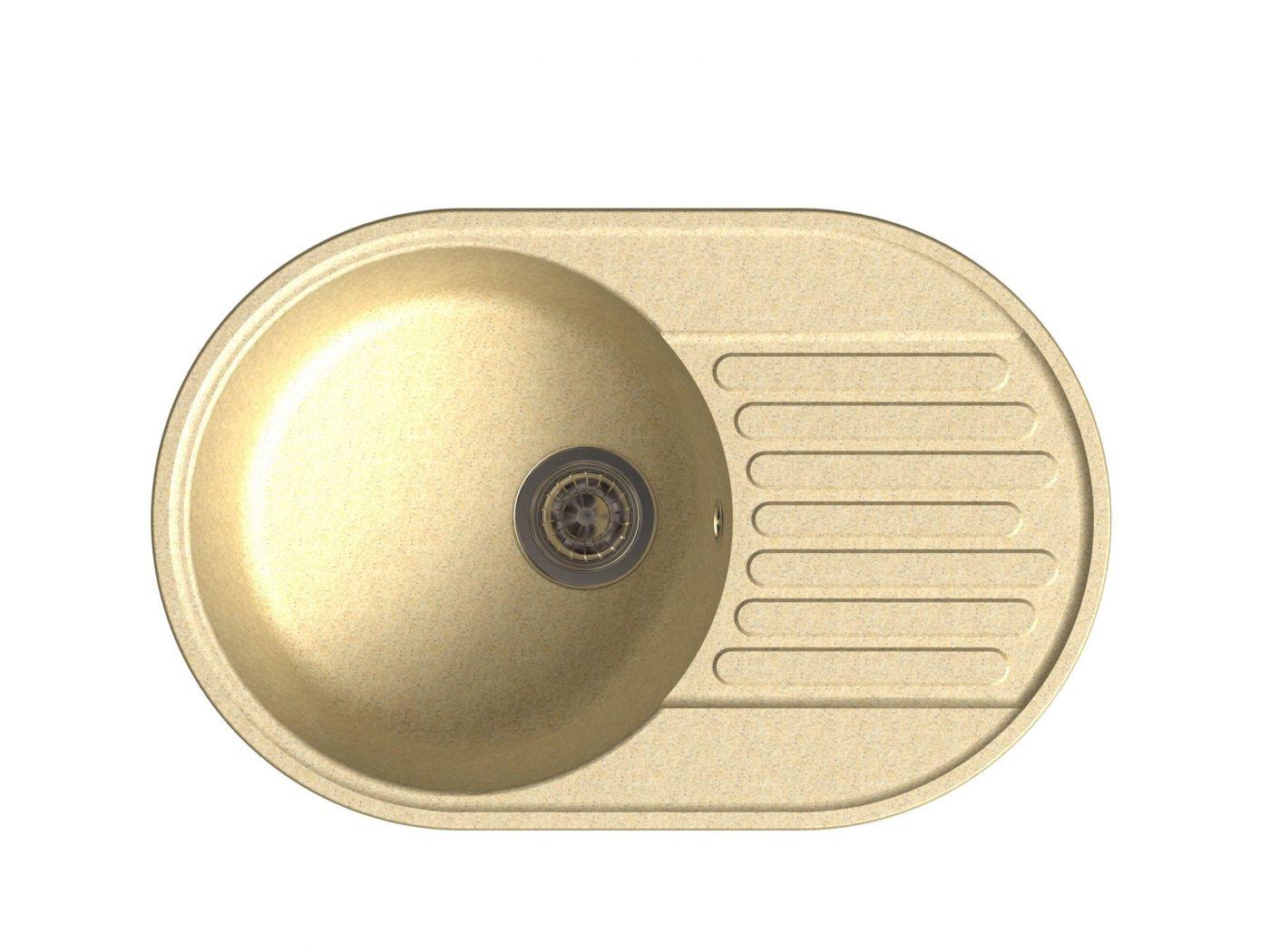 Врезная кухонная мойка LEX Como 740 Ivory 74х48см полимер RULE000010